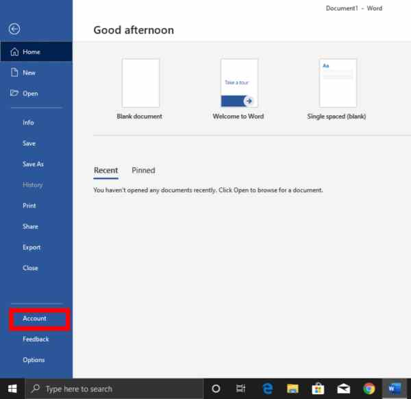 How to Enable the Dark Mode in Microsoft Office 2019: Office Dark Theme