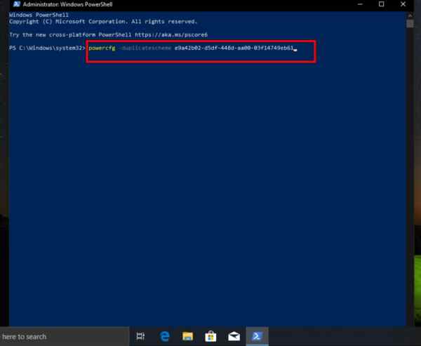 Windows 10: How to Enable the Ultimate Performance Power Plan Using PowerShell