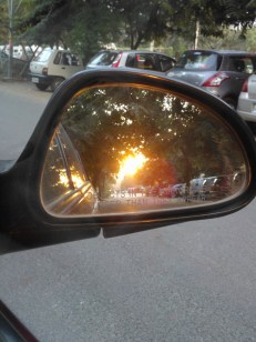 """The mirror says...""""Objects in the Mirror are Closer than they appear""""...Yeah right...!"""