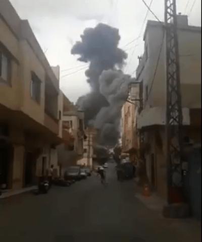 انفجار يهز عين قانا جنوبي لبنان