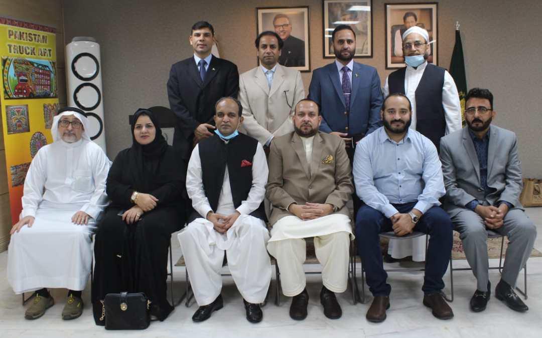 خالد مجيد يستقبل رئيس لجنة الشرق الأوسط لغرفة التجارة والصناعة بفيصل آباد
