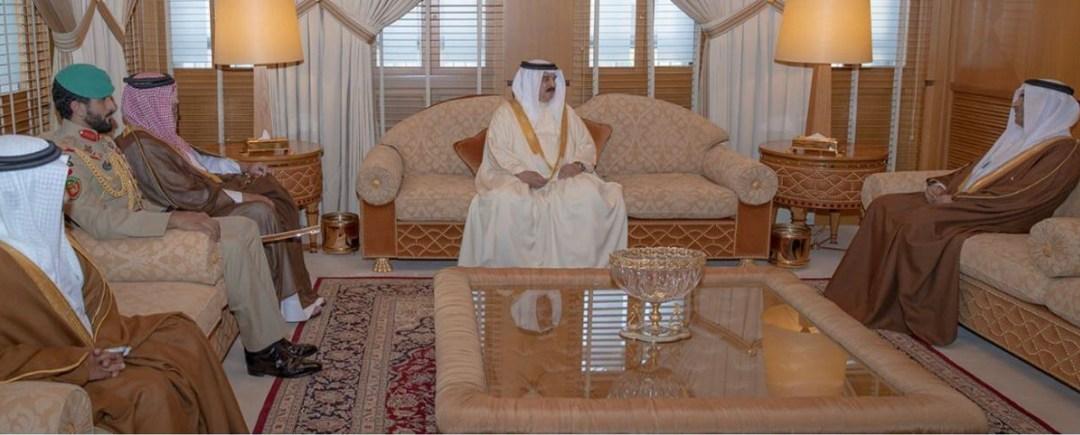 ملك مملكة البحرين يستقبل رئيس البرلمان العربي