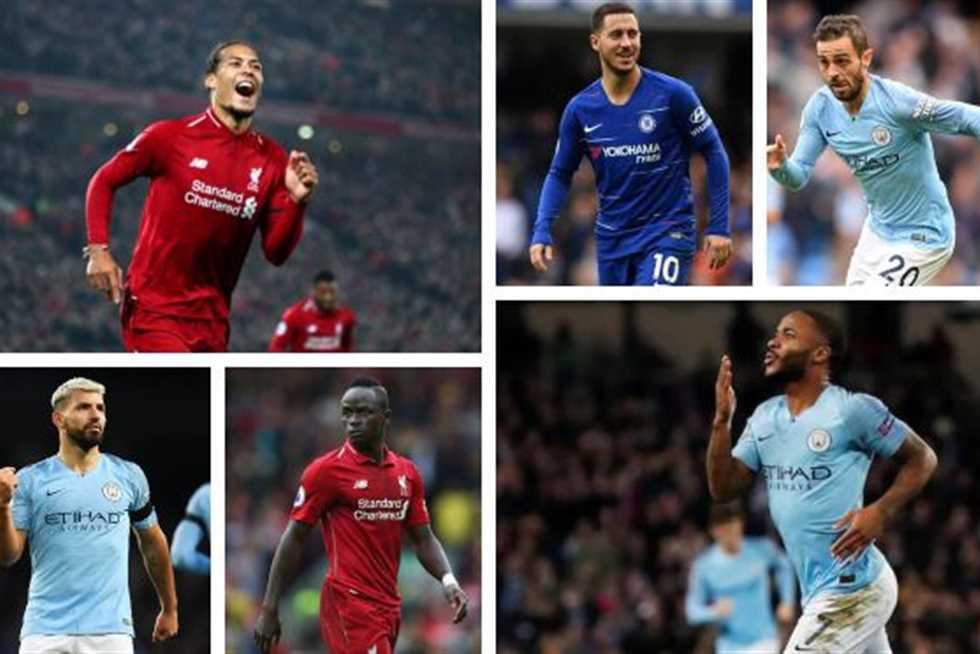 الدوري الإنجليزي يرشح 8 لاعبين لجائزة أفضل لاعب