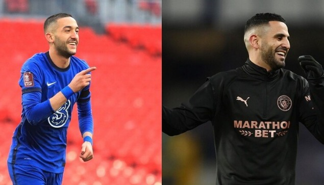 المغربي حكيم زياش والجزائري رياض محرز في نهائي دوري أبطال أوروبا