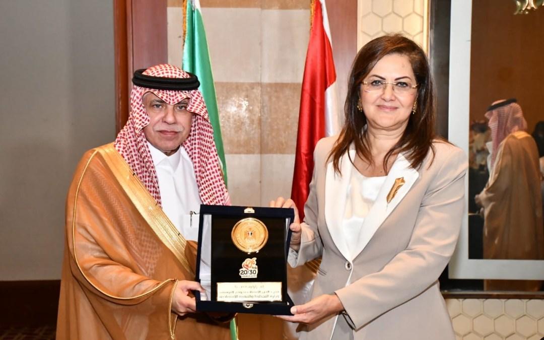 وزيرة التخطيط تلتقي وزير التجارة السعودي ووفد من مجتمع الأعمال بالمملكة