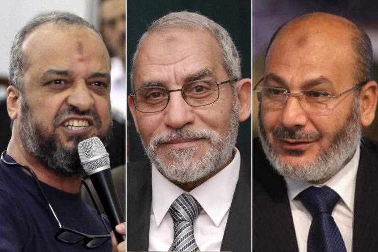 المؤبد لمحمد بديع وتسعة من قيادات الإخوان
