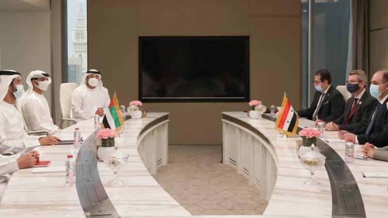 الإمارات وسوريا تبحثان تطوير العلاقات الاقتصادية وتوسيع آفاقها