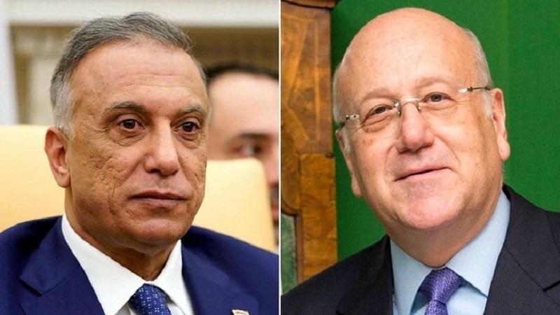 رئيس الحكومة اللبنانية يدعو نظيره العراقي لزيارة لبنان ويبحث سبل تطوير العلاقات بين البلدين