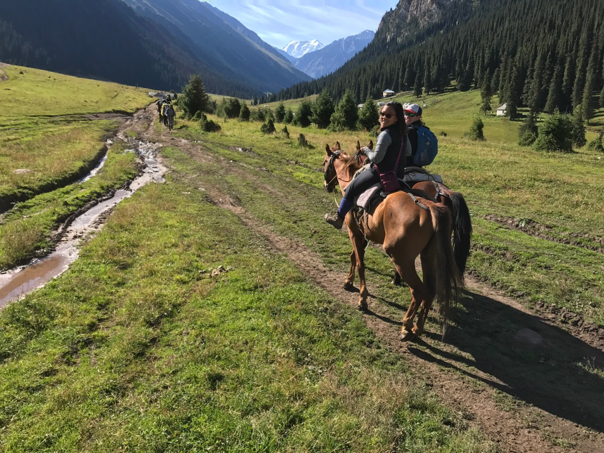 Horseback Riding In The Terksai Ala-Too Mountains