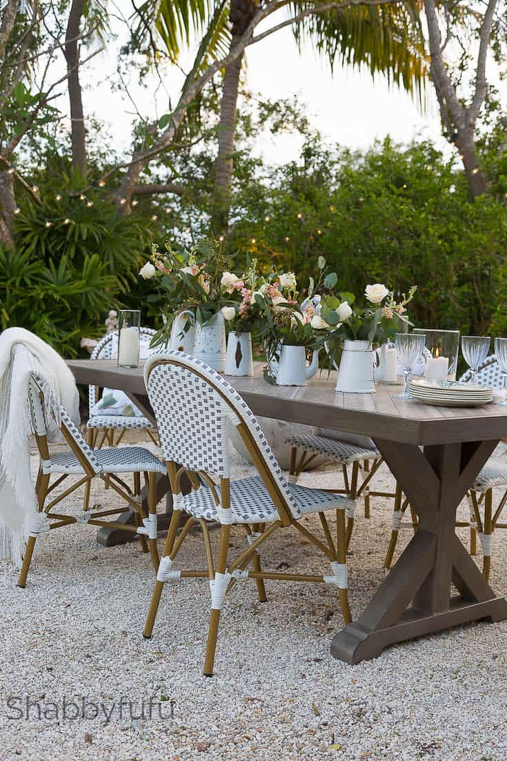 outdoor dining room french style