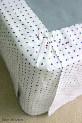 DIY bedskirt corner 600 WM