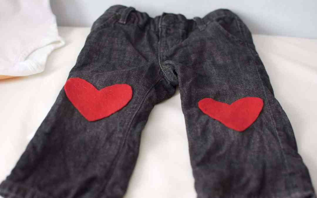 No-Sew Valentine's Day Heart Patch for Your Baby's Pants!