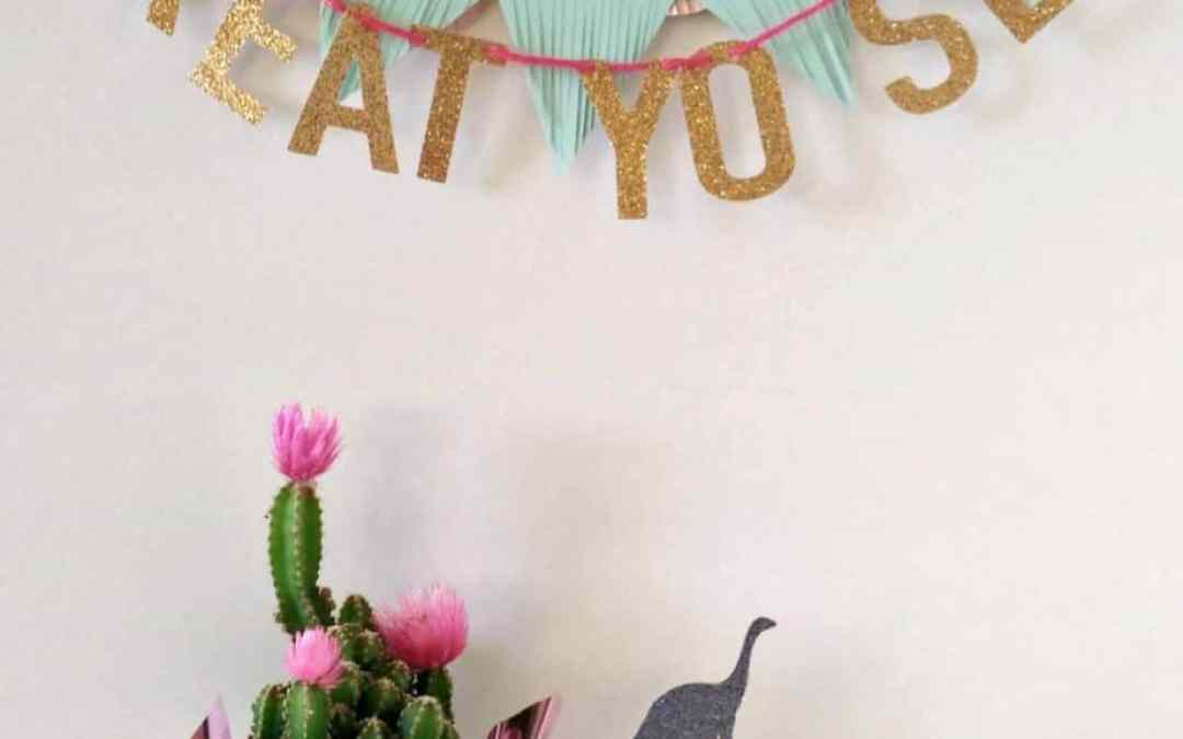 How to make mini buntings from free paint color samples.