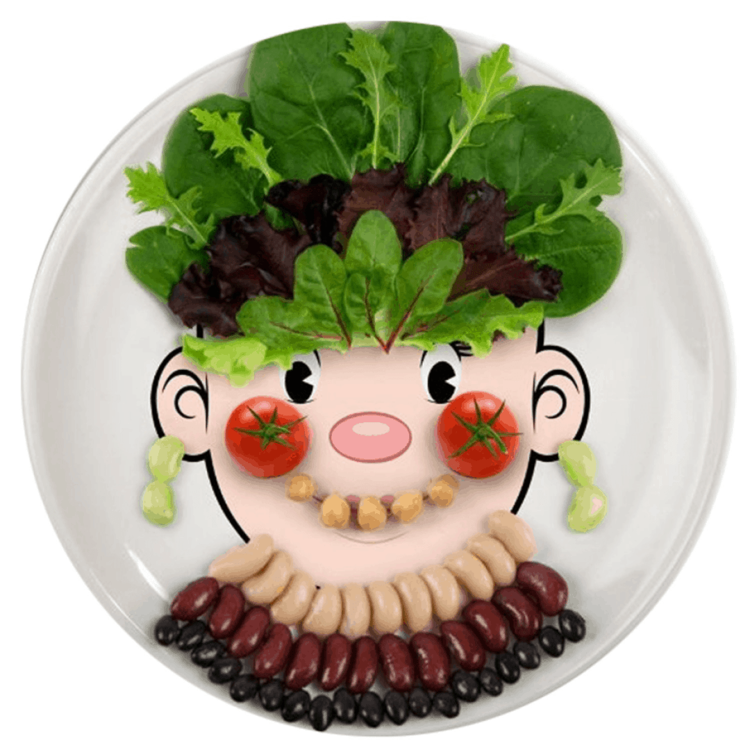 funny face food plate for the picky eater. shabbymintchicparty.com
