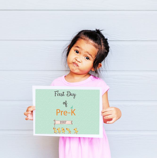 First Day of School free printable 2