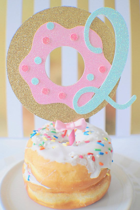 Donut Theme Cake Topper
