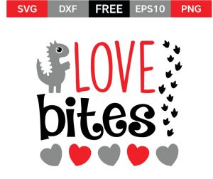Download Valentine's Day SVG Love Bites - Shabby Mint Chic Party