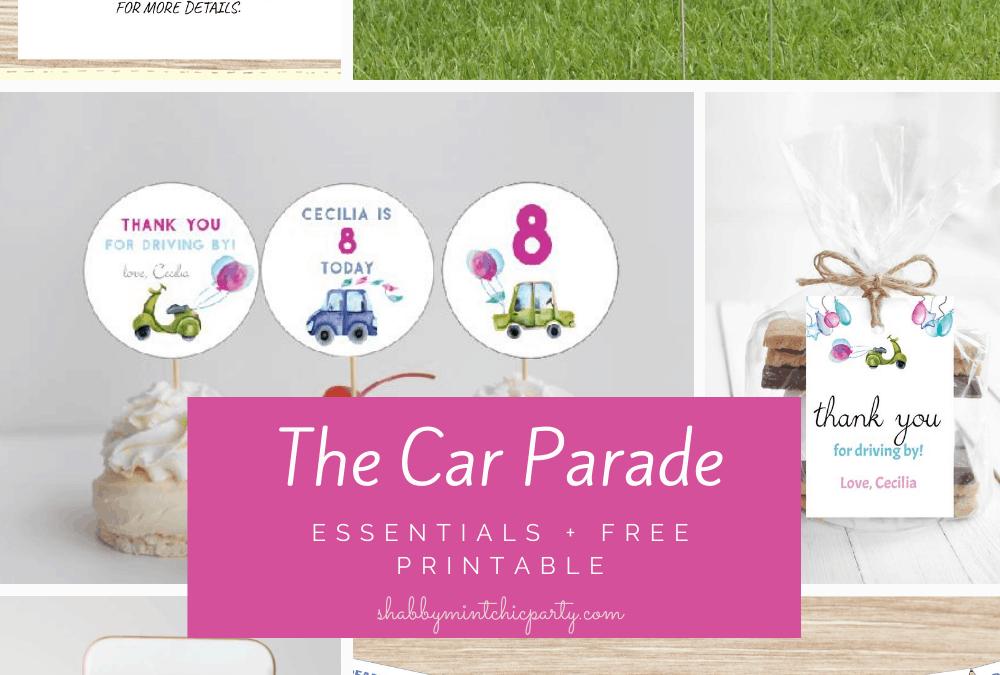 birthday car parade essentials free
