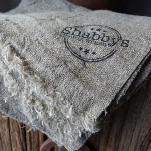 Shabbys-Stoer in wonen-Uniek, stoer en klein shabby sier-/keukendoekje met Shabbys stempelopdruk
