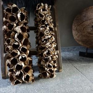 Shabbys-Stoer in wonen-Tafelstuk Coco fruit naturel 70 cm