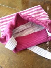 Bag made from woollen dress and shirt