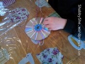 Use wool and recycled CDs to make artwork