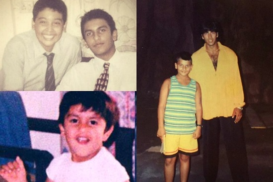 Ranveer singh Childhood images