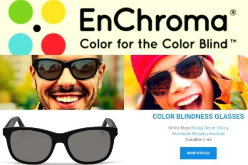 Enchroma glasses for color blinded