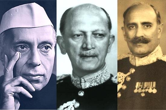 Nehru ji Commander in chief Cariappa Nathu Singh Rathore