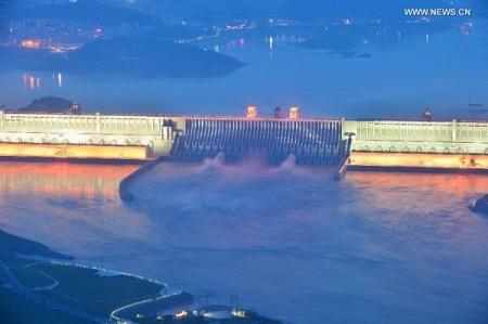 Three gorges dam on yangtze river