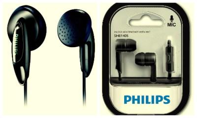 Philips earphones SHE1350 & Philips SHE1405BK/94 india