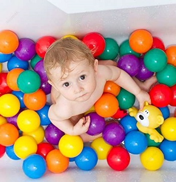 colourful pool and pit soft balls for kids