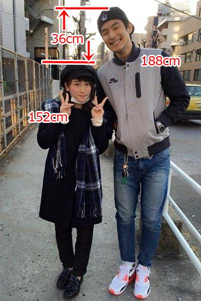 川栄李奈 鈴木貴之 身長 比較