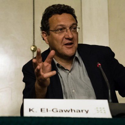 Karim El-Gawhary bei einer Veranstalung 2014 in Wien. Photo: Thomas König, Shabka