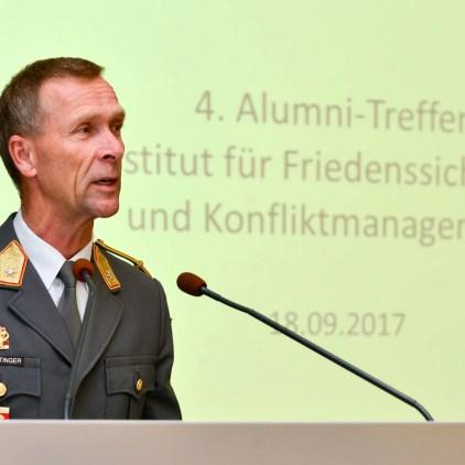 Brigadier Walter Feichtinger beim 4. IFK-Alumnitreffen. Bild: Medienreferat/LVAk.