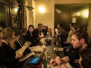 Die Diskussion im Salon Shabka zur Belt & Road Initiative im Okt. 2017. Bild: Thomas König, Shabka.