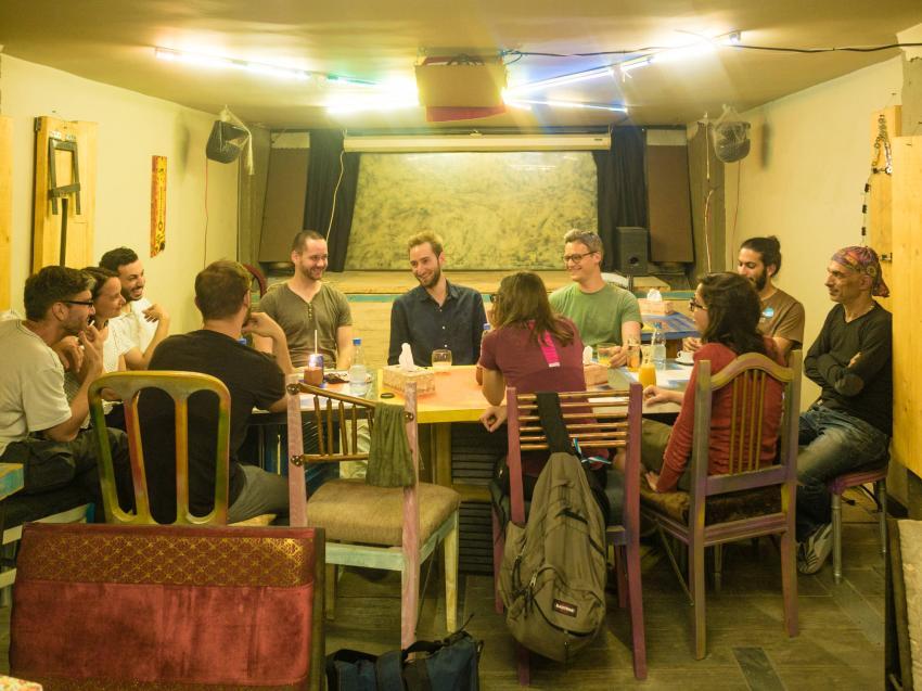 Salon Shabka am 04.05.2018 in Tripoli, Libanon. Bild: Thomas König, Shabka.