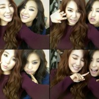 SNSD's Tiffany snapped for some lovely photos with Sistar's Bora