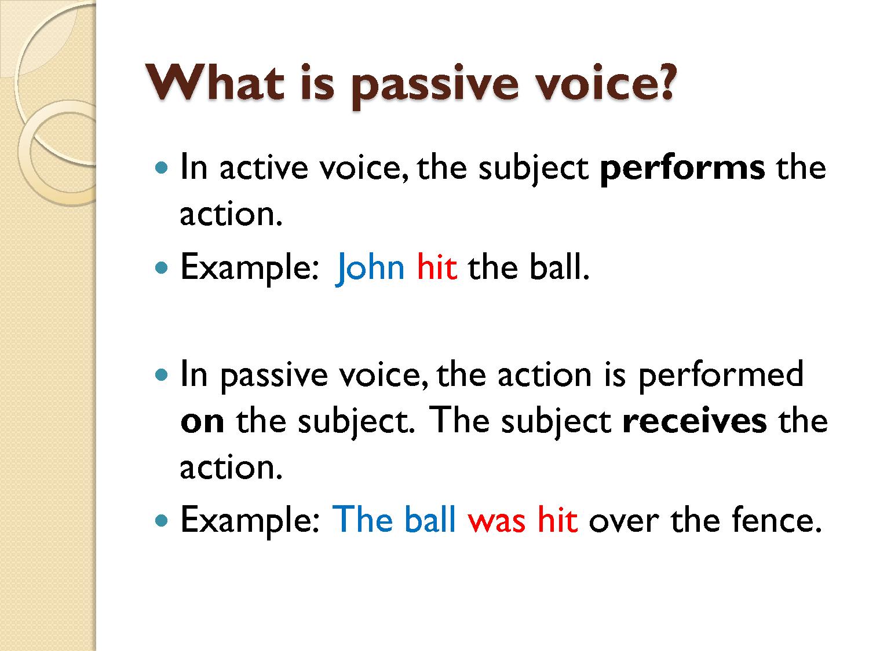 English Intermediate Ii U3 Active And Passive Voice
