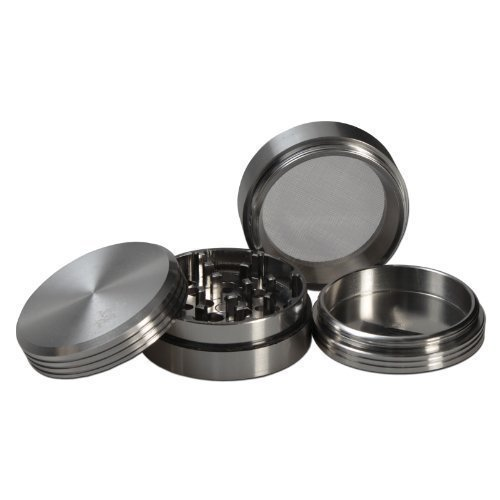 Black Leaf Matrix Aluminum 4-Piece Herb Grinder