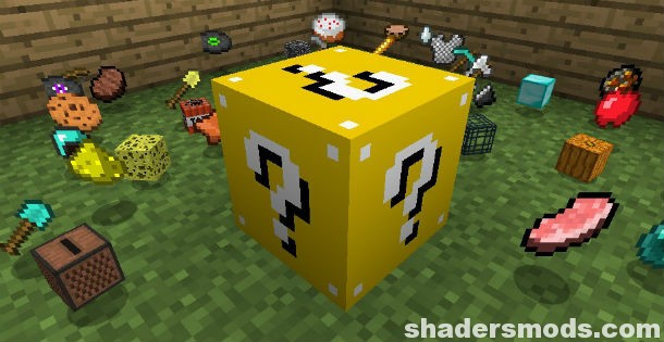 Lucky Block Mod for Minecraft 1 12 2/1 11 2/1 10 2 | Shaders