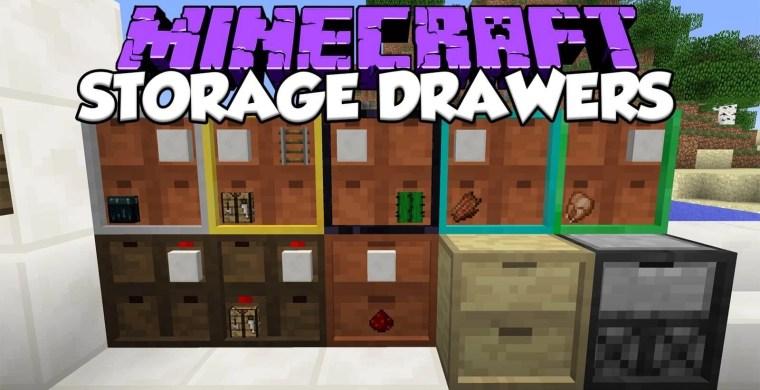 Storage Drawers Mod for Minecraft 1.16.5