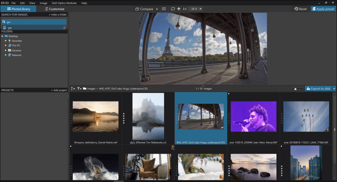 NEW-DxO PhotoLab 2 Grid View