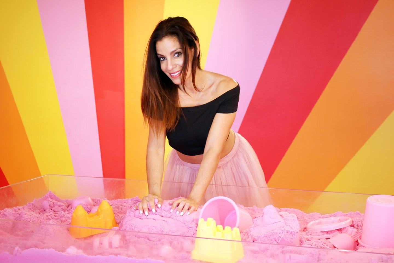 museum of ice cream pink asos skirt