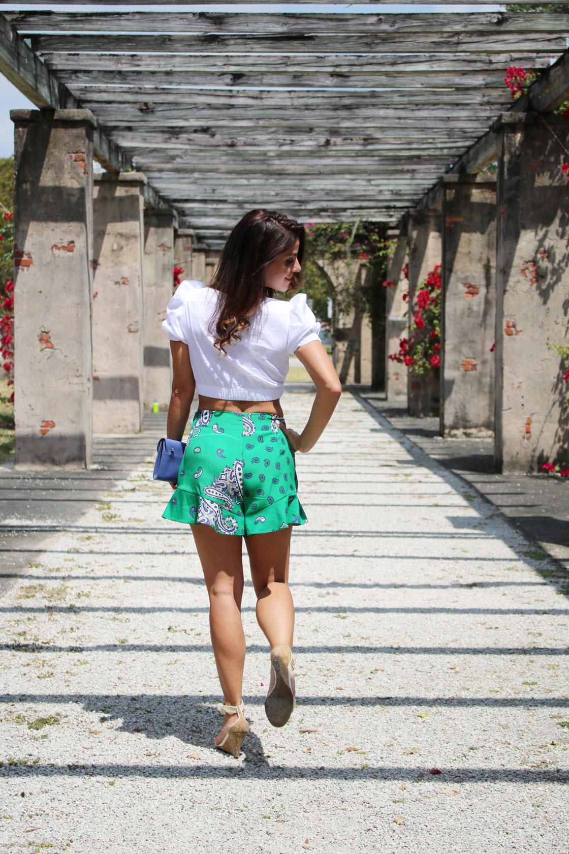 zara bermuda shorts-back