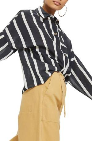 Topshop Wide Stripe Shirt