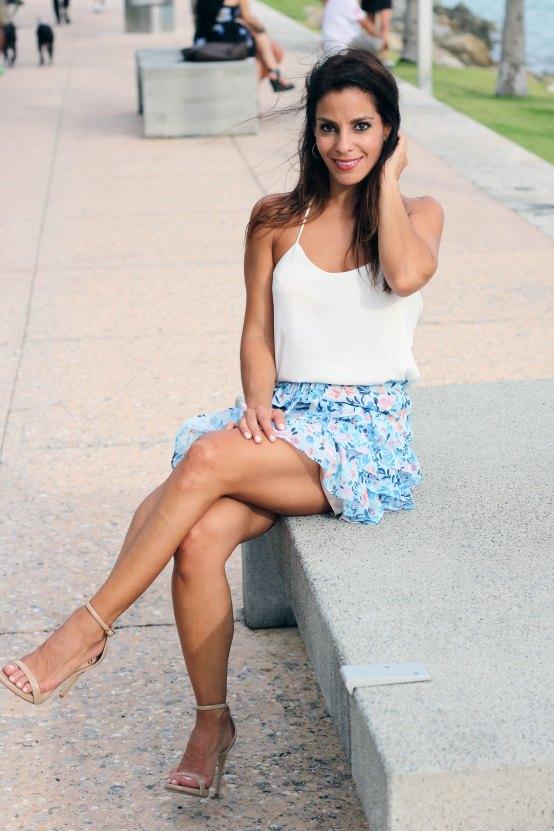 jana ruffles skirt lovers and friends front