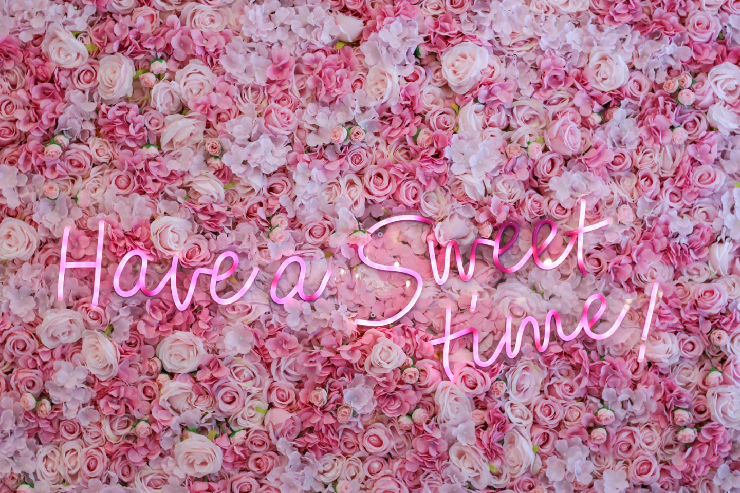 sweet time floral wall