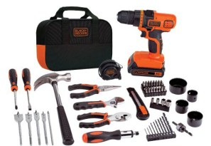 Father's Day Black+Decker LDX120 Lithium Drill and Project Kit