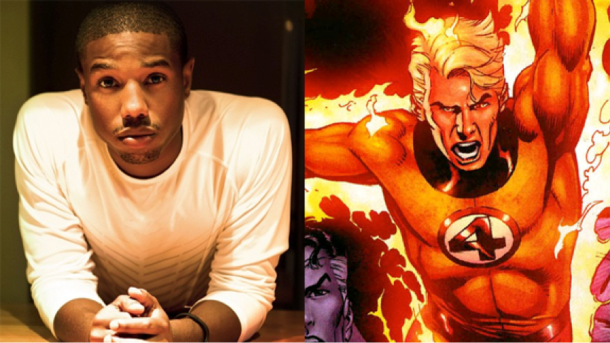 "Michael B. Jordan is set to play Johnny Storm a.k.a ""The Human Torch"""